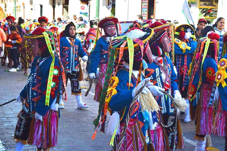 Mensen in Cusco Peru