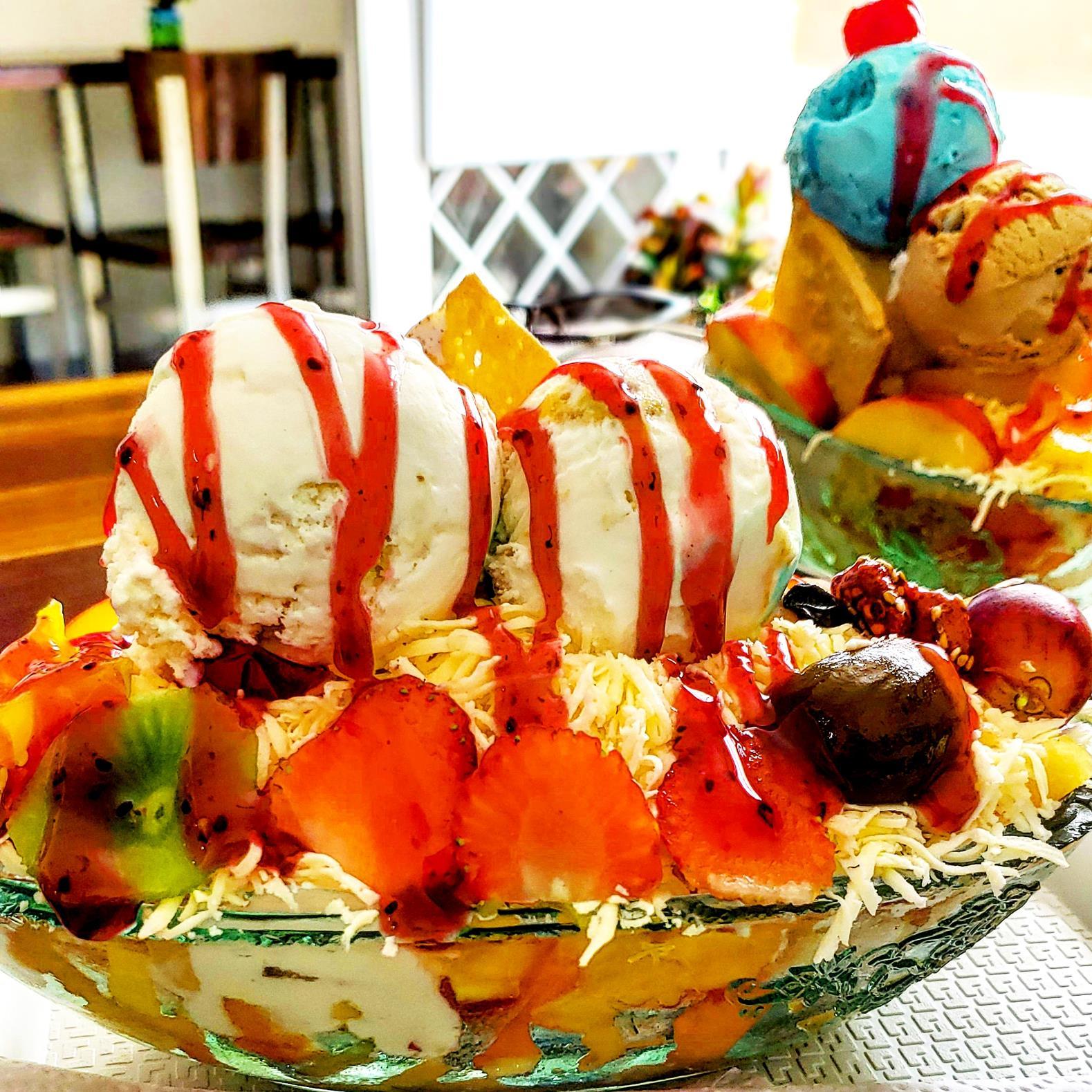 Typisch Colombiaans eten fruitsalade