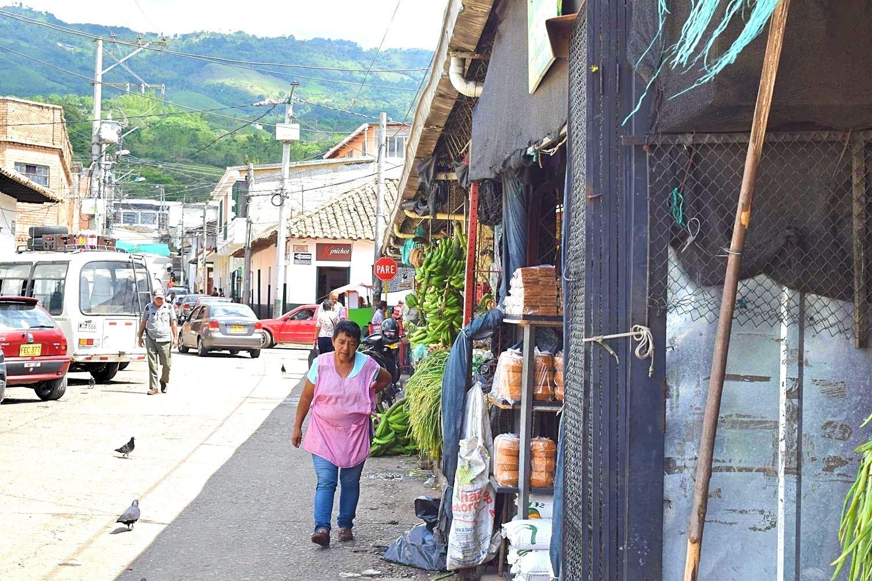 Markt in Colombia Guaduas