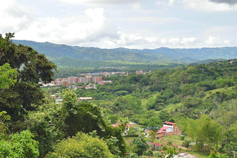 Uitzicht over Guaduas Colombia