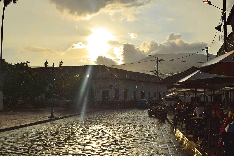 Zonsondergang Colombia Guaduas
