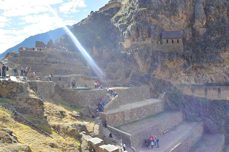 Ruïne Ollantaytambo omgeving Cusco Peru