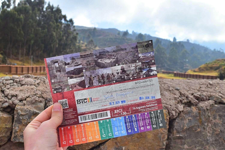 Toeristenkaart Boleto turístico Cusco Peru