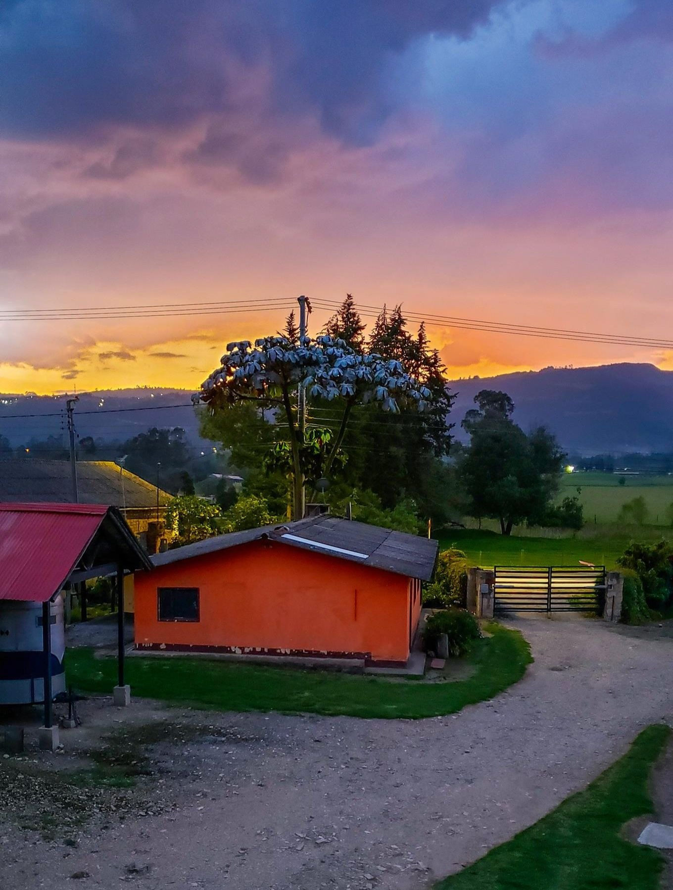 De mooiste zonsondergang Colombia