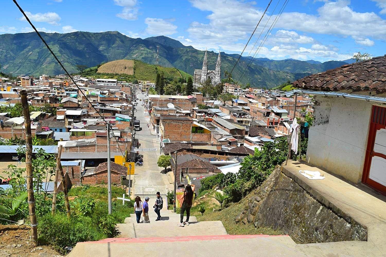 Pasto Sandoná buiten de gebaande paden Colombia