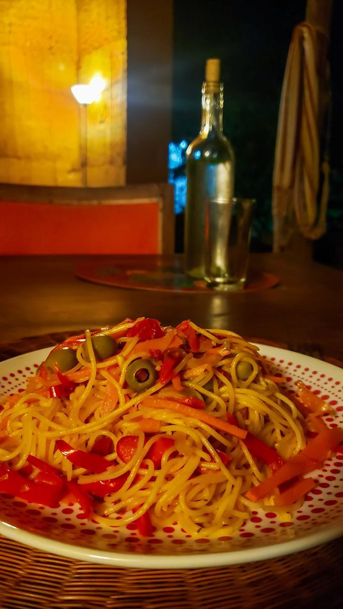 Vegetarische pasta Colombia