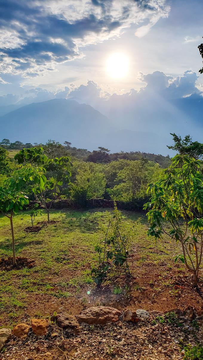 Zonsondergang Colombia Barichara