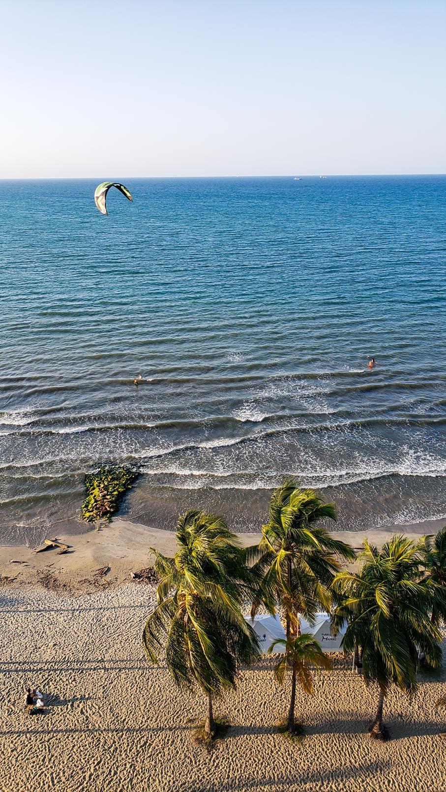 Kitesurfen strand Colombia Coveñas
