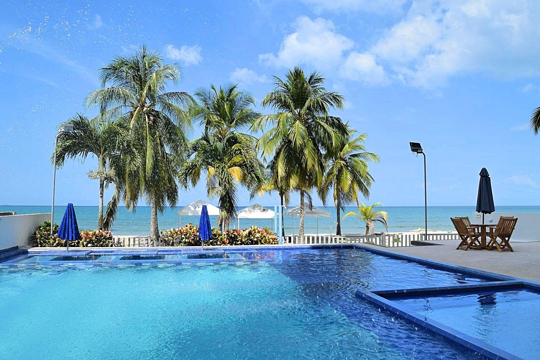 Hotel aan het strand Colombia Coveñas