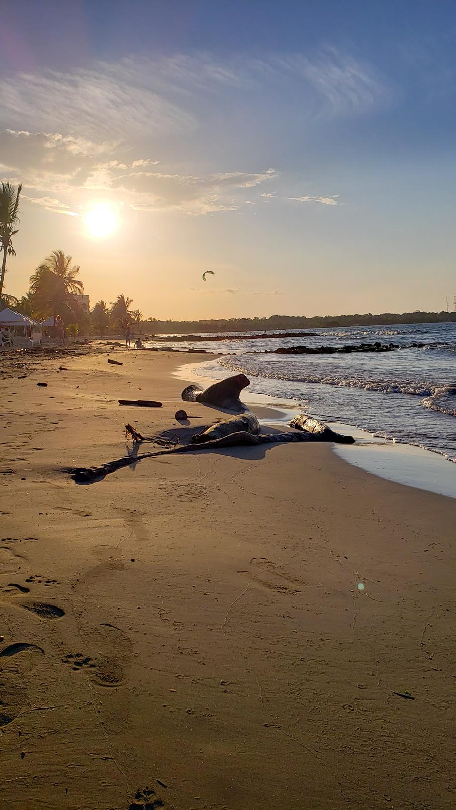 Zonsondergang strandvakantie Colombia
