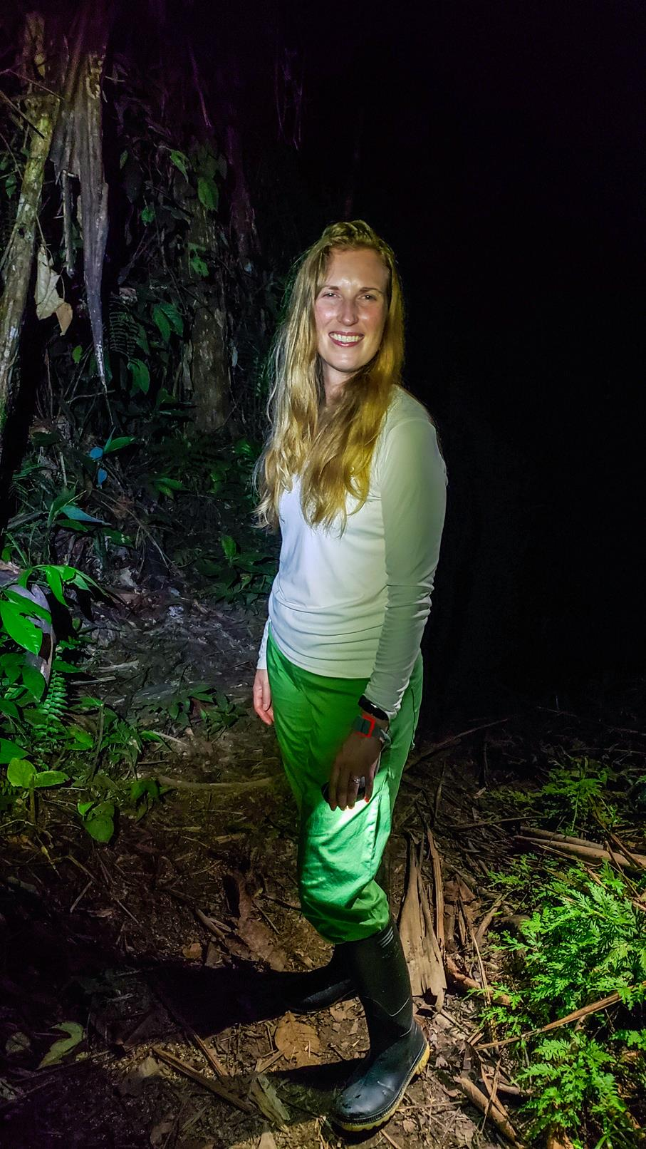 Nachtwandeling Amazone gebied Colombia